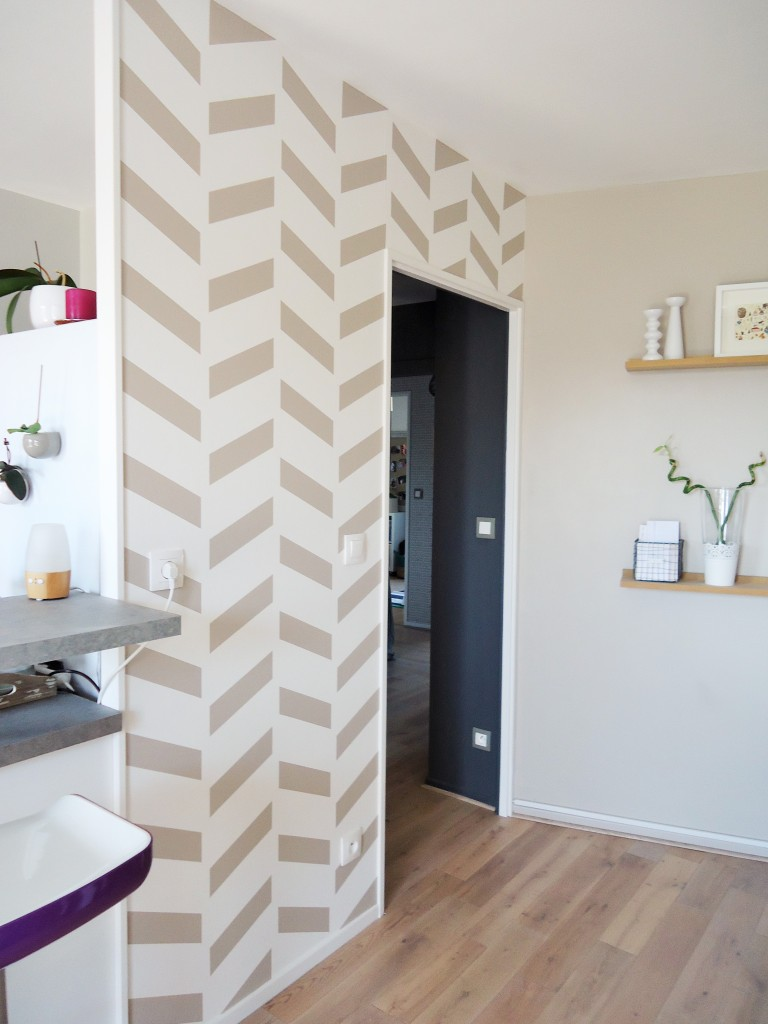 DIY : un mur graphique - Home by Marie