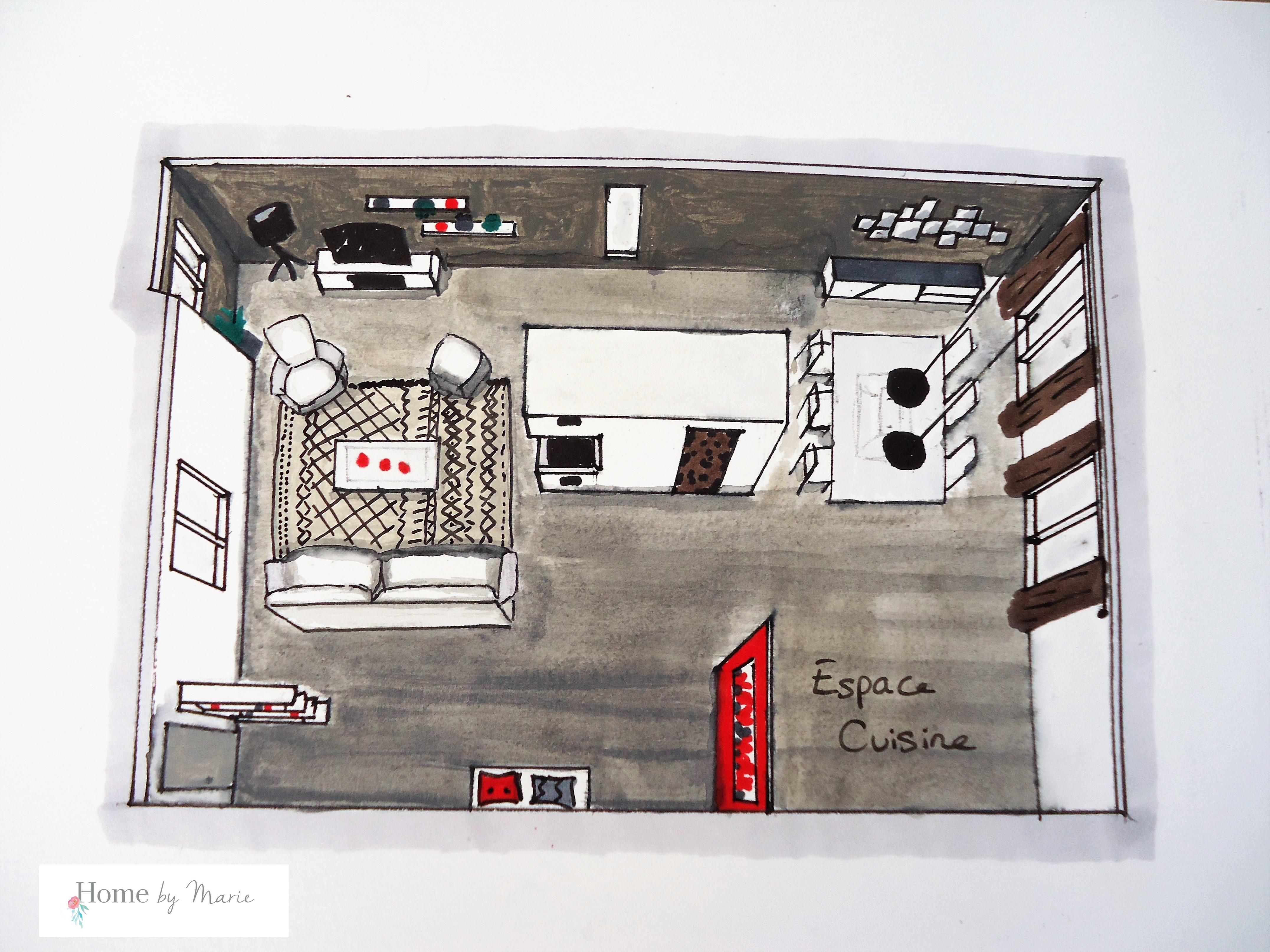 Home buffet table decoration - Coaching D 233 Co Une Maison Contemporaine Home By Marie