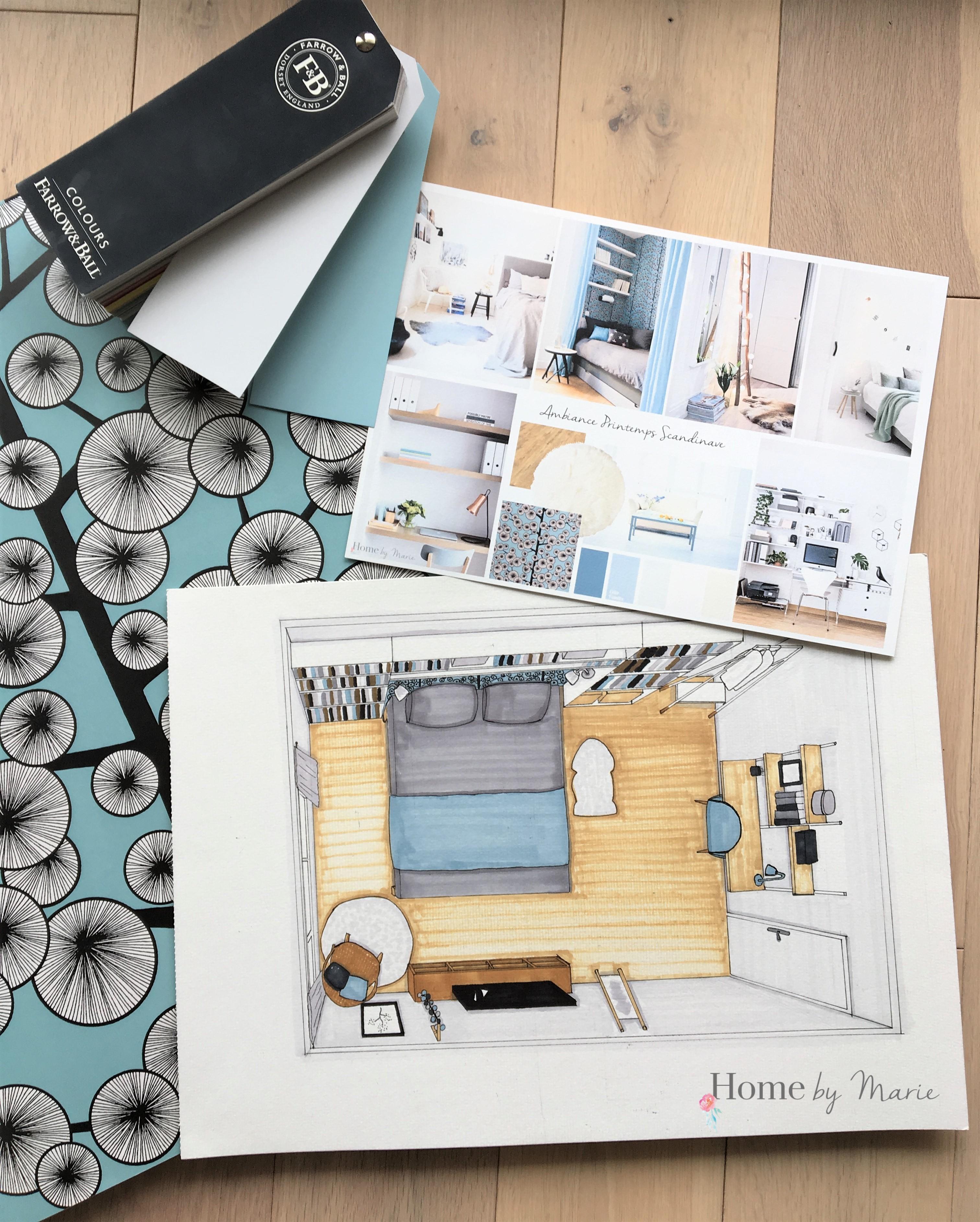 Suivi de projet des ann es 70 au style scandinave home for Commode chambre parentale
