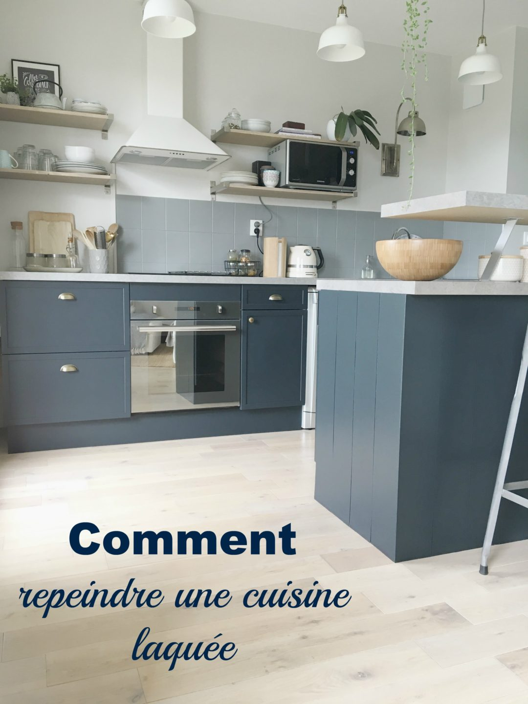 Comment Repeindre Une Cuisine Laquée Home By Marie