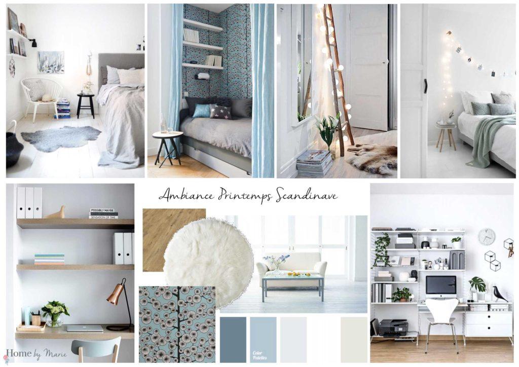 une chambre d 39 amis au style printemps scandinave home by marie. Black Bedroom Furniture Sets. Home Design Ideas