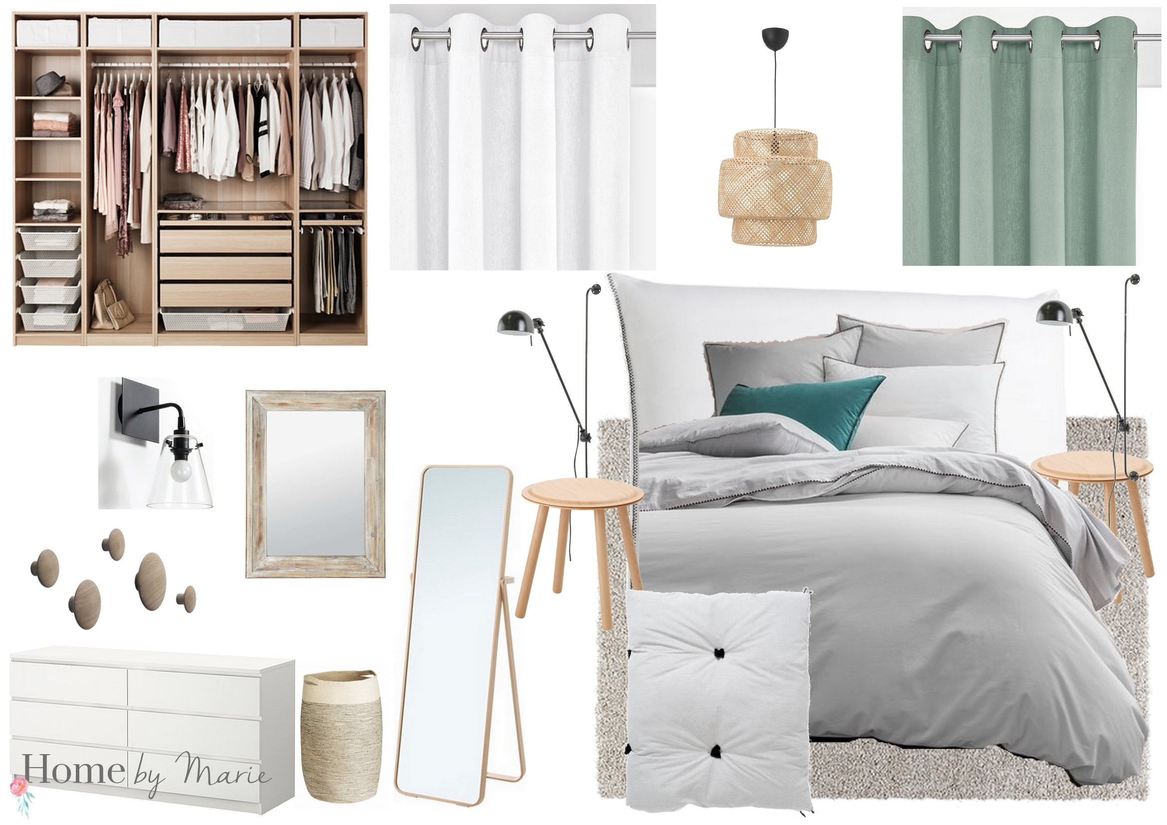 une chambre parentale cosy et scandinave home by marie. Black Bedroom Furniture Sets. Home Design Ideas