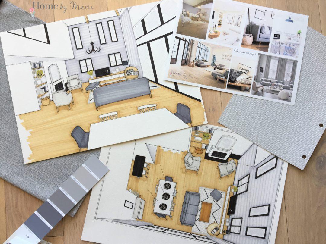 Style classique ethnique pour une maison neuve home by marie for Maison classique interieur