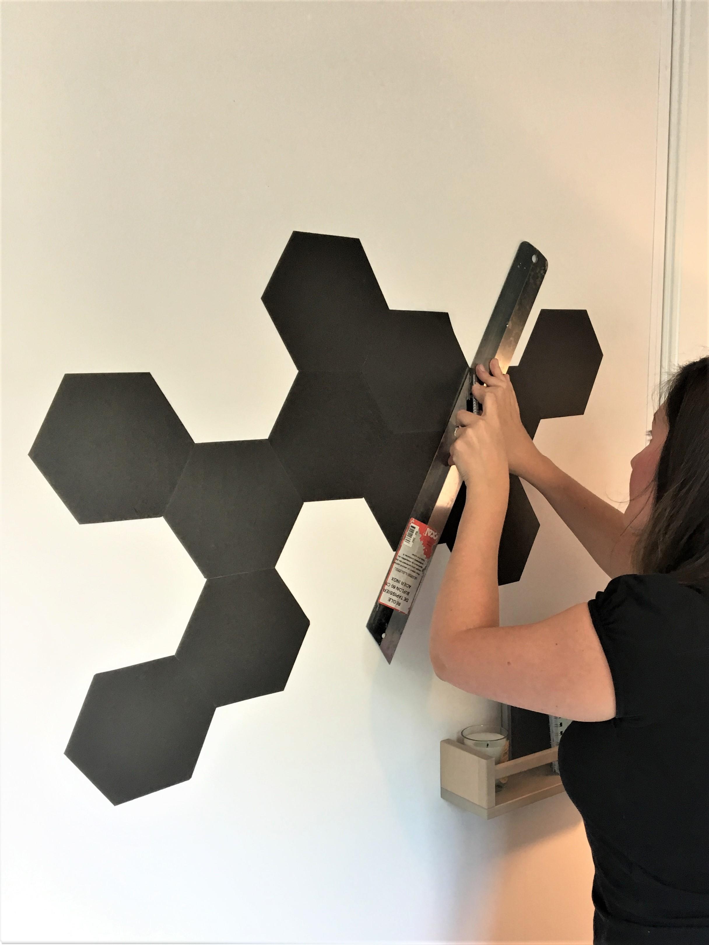 diy un tableau magn tique avec le papier peint ferflex home by marie. Black Bedroom Furniture Sets. Home Design Ideas