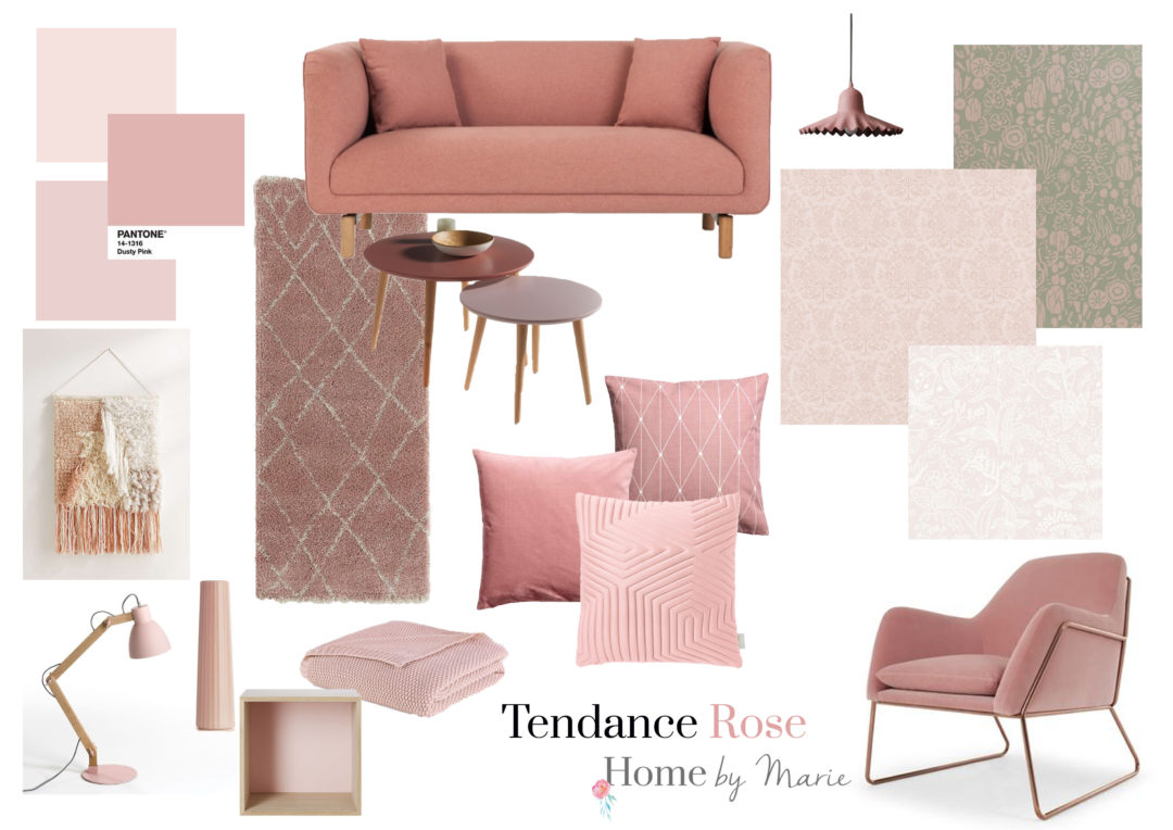 tendance rose comment l 39 int grer dans votre d coration home by marie. Black Bedroom Furniture Sets. Home Design Ideas