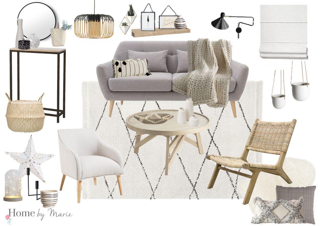 Un salon monochrome cosy - Home by Marie