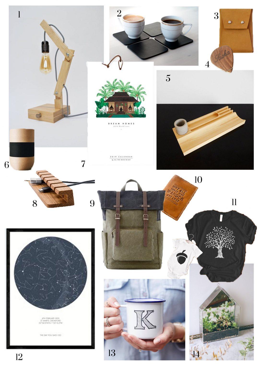 14 cadeaux de Noël originaux pour Lui sur Etsy   Home by Marie