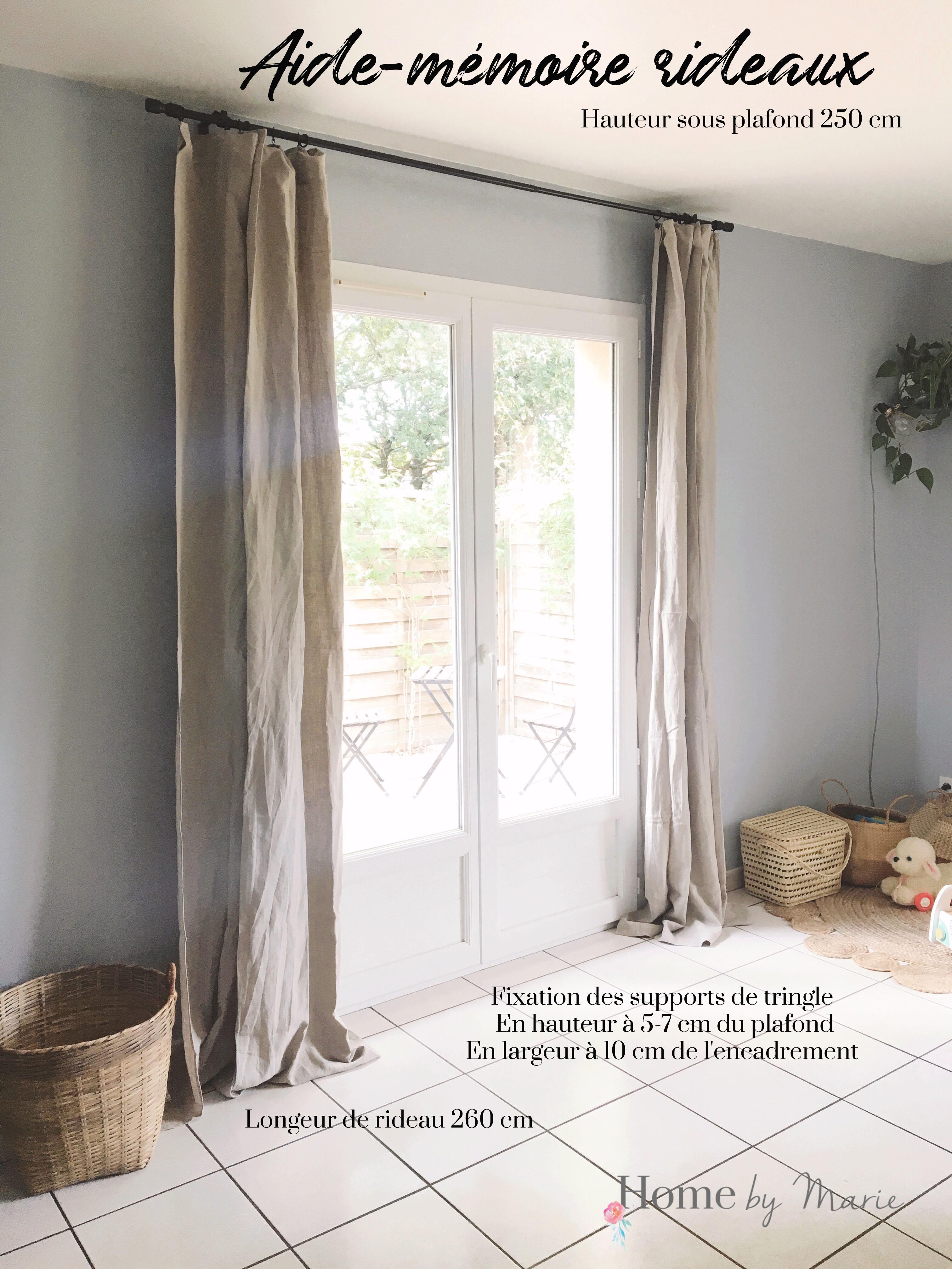 Support Tringle Rideau Plafond bien choisir et placer ses rideaux - homemarie
